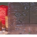 "Grey Etched Rose Privacy Window Film 36"" Wide x 1yd. Sold by the yard as one continuous roll."