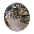 "12"" Indoor Convex Glass Mirror with Hardboard Back and Z Bracket"