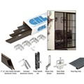 "CRL Bronze 31"" x 81"" Rio Extruded K.D. Sliding Screen Door Kit"