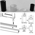Nylon Bushing Kit and Door Stop for Framed Pivot Shower Doors