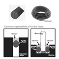 "1-1/8"" Black Tundra Foam Open Cell Backer Rod - 300 ft"