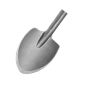 "Relton CS-S Forged Hammer Tools Clay Spade with Spline Shank 4-1/2"" x 5-1/2"" x 15-1/2"""