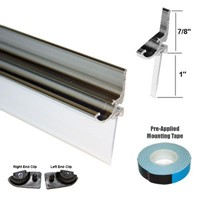 Chrome Framed Shower Door Replacement Drip Rail With Vinyl