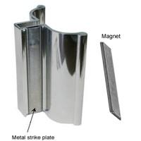 Frameless Shower Door Handle With Metal Strike Bright