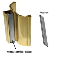 Bright Gold Frameless Shower Door Handle With Metal Strike