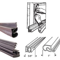 Bronze Magnetic Weatherstrip Replacement For Metal Doors Set