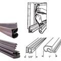 Bronze Magnetic Weatherstrip Replacement for Metal Doors - 6 Sets