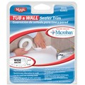 Tub and Wall White Sealer Trim Wide 1-5/8 in  x 11 ft  long
