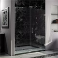 "DreamLine SHDR-23537210-01 UnidoorLux Frameless Shower  53"" x 72"" Hinged Shower Door"