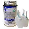 Weld-On 3 Acrylic Adhesive - 4 Oz and 6 Pack of Weld-On Applicator Bottle with Needle